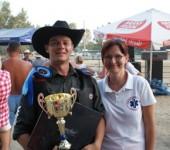 S víťazom Rodeo and Bull ride Iža 2012