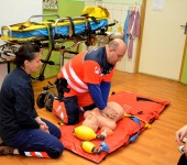 Ukážky práce záchranárov - Svätý Peter 2014