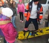 Ukážka práce záchranárov v ZŠ Ipeľský Sokolec 2014