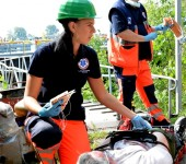 Cintia Krivaneková na súťaži Komárno Rescue 2014