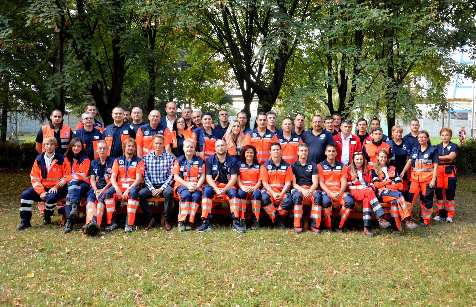 účastníci súťaže Komárno Rescue 2015