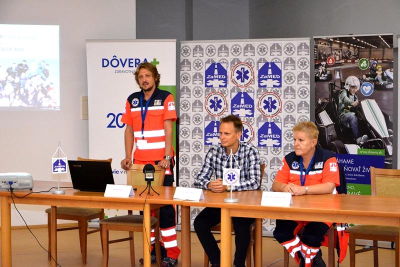 Otvorenie súťaže Komárno Rescue - Bc. Száz, PhDr. Polák, MUDr. Kratochvilová