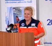 MUDr. Kratochvilová - odborný garant súťaže  Komárno Rescue